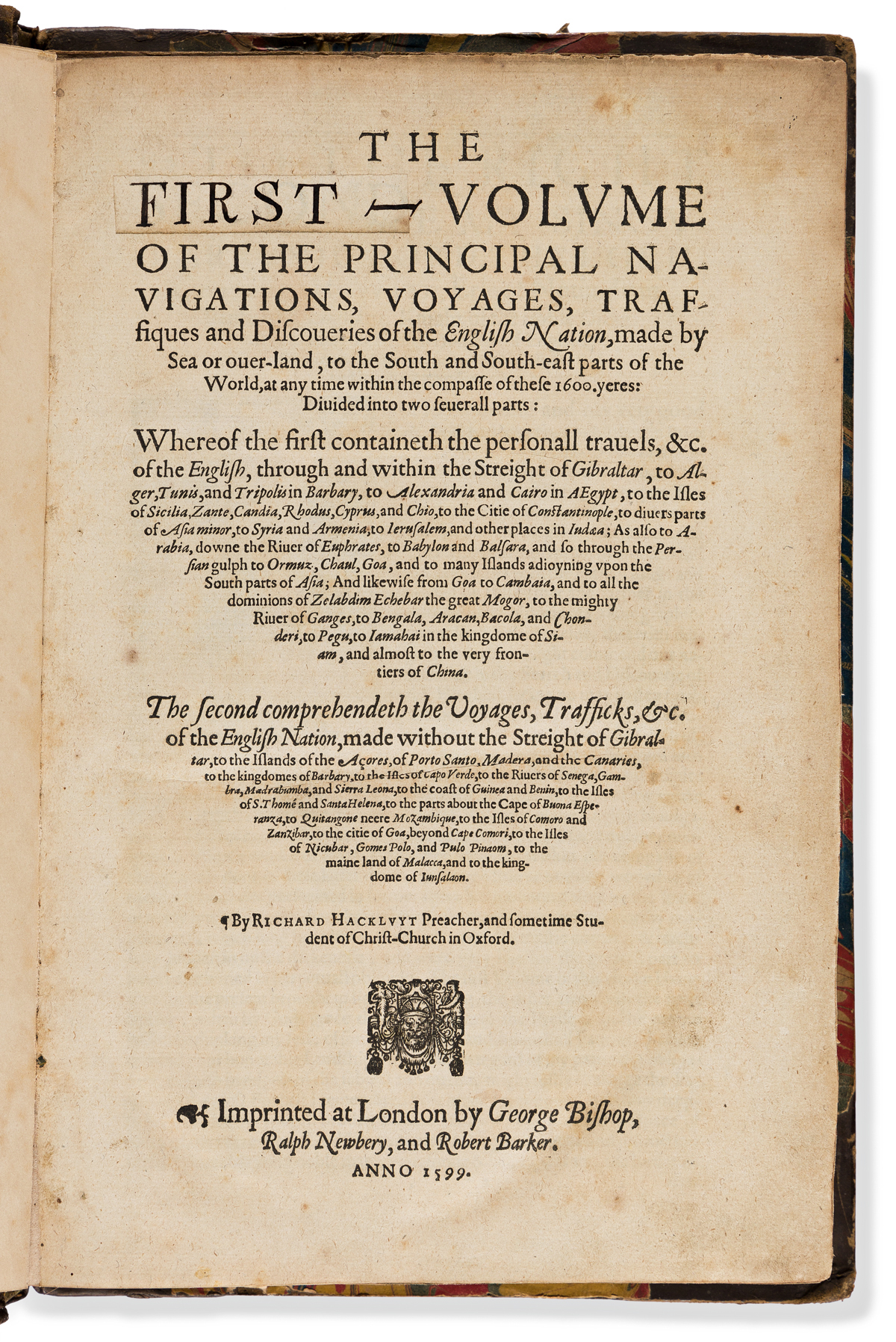 Hakluyt, Richard (1552?-1616) The Principal Navigations, Voyages, Traffiques, and Discoveries of the English Nation, Made by Sea or Ove