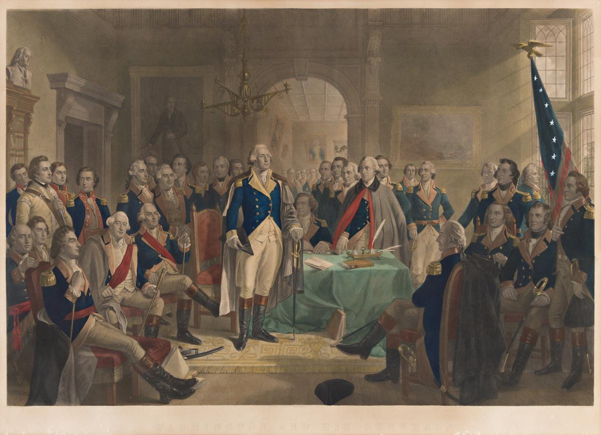 (AMERICAN REVOLUTION--HISTORY.) Alexander H. Ritchie, artist. Washington and his Generals.