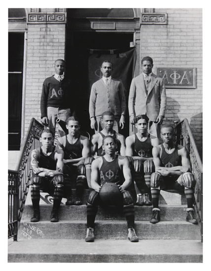 JAMES-VANDERZEE-(1886---1983)-Alpha-Phi-Alpha-Basketball-Tea