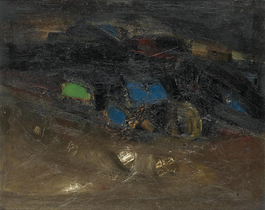 MERTON SIMPSON (1928 - 2013 ) Night Village.