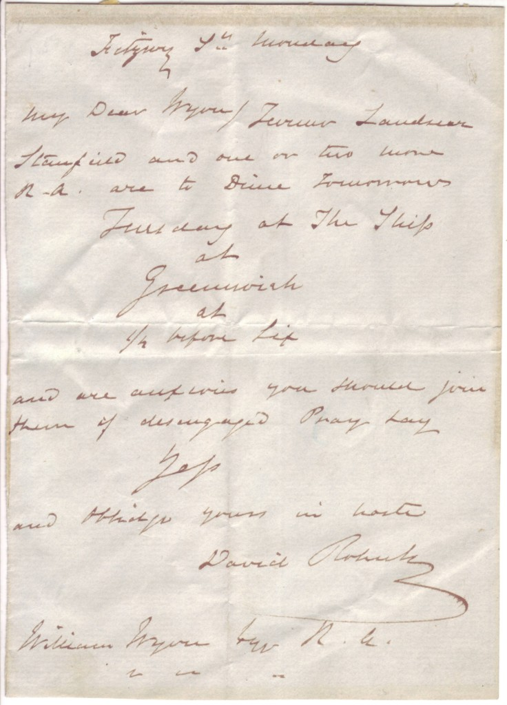 ROBERTS-DAVID-Autograph-Letter-Signed-to-William-Wynn