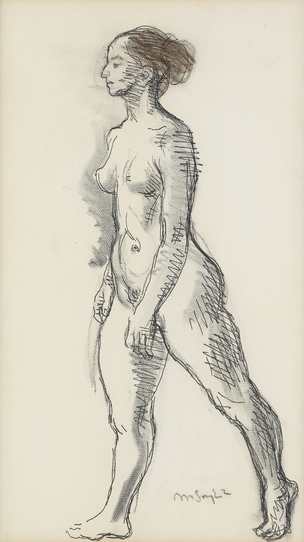 MOSES-SOYER-Female-Nude-Study