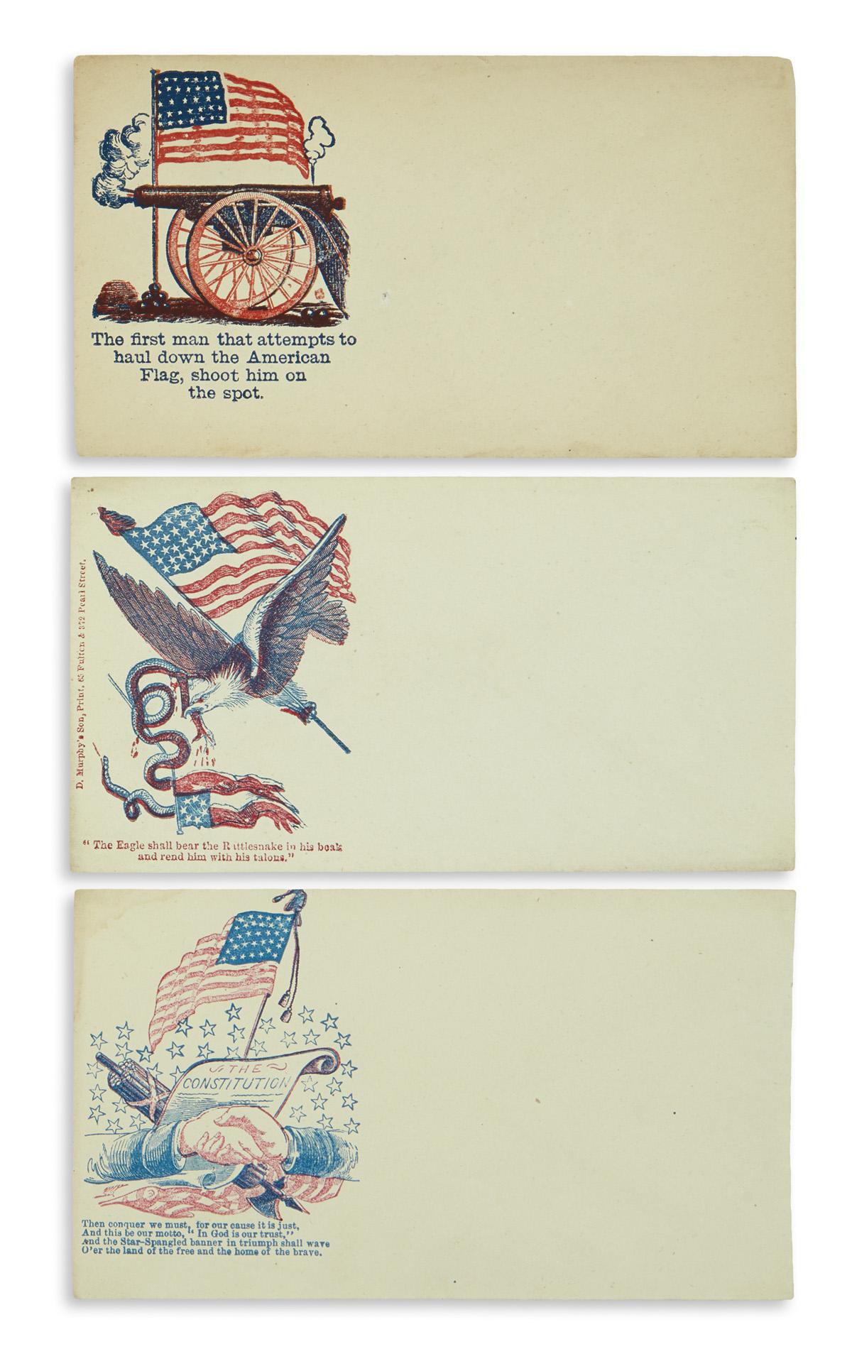 (CIVIL WAR--COVERS.) Group of 263 patriotic covers.