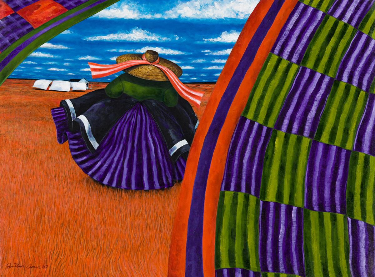JONATHAN GREEN (1955 -  ) Soft Quilts.