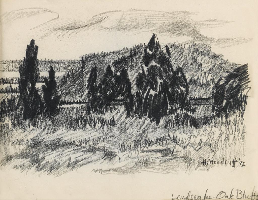 HALE-WOODRUFF-(1900---1980)-Landscape-(Oak-Bluffs)