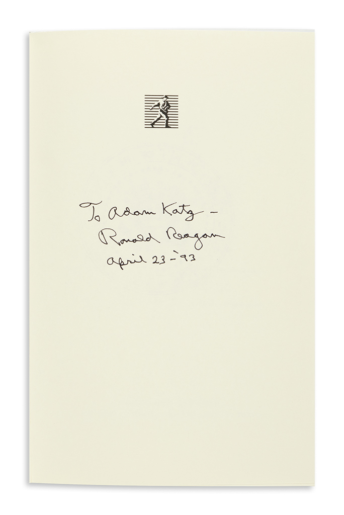 REAGAN-RONALD-Speaking-My-Mind-Signed-and-Inscribed-To-Adam-