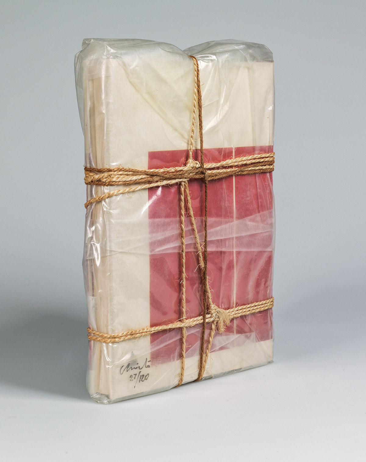CHRISTO Wrapped Book Modern Art.