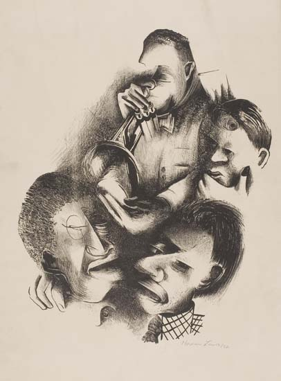 NORMAN LEWIS (1909 - 1979) Musicians.