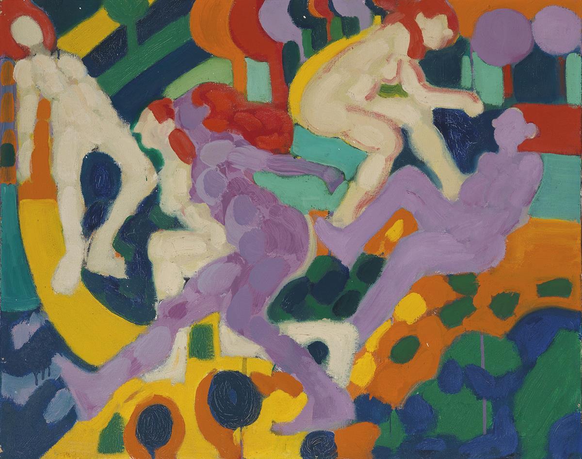 EMILIO CRUZ (1938 - 2004) Figurative Composition #5.