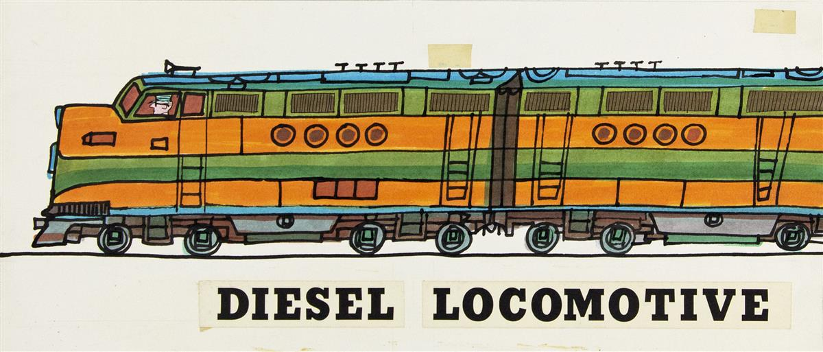 ART SEIDEN. The Cub Book of Trains. [CHILDRENS / RAILROAD]