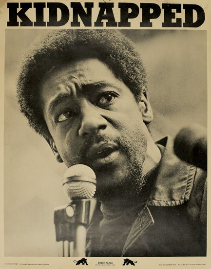 (BLACK PANTHERS.) SEALE, BOBBY. KIDNAPPED, Bobby Seale, Chairman, Panther Party.