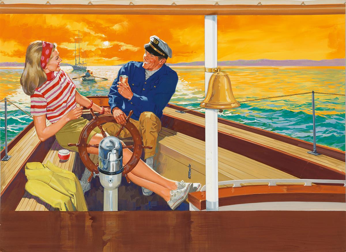 ADVERTISING-LIQUOR-LEN-GOLDBERG-Sunset-Sails-with-Cocktails