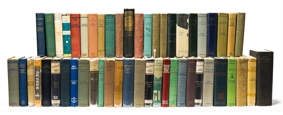 WORK PROJECTS ADMINISTRATION. Complete set of the WPA state guides.