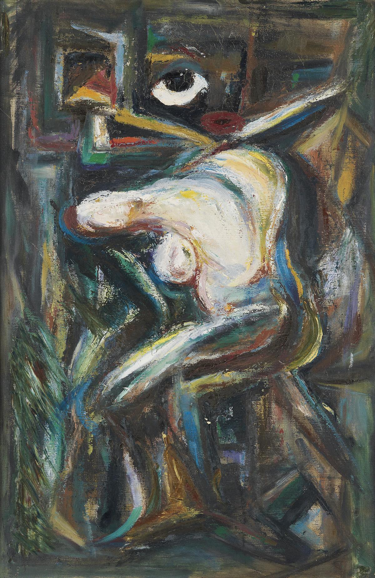DOX THRASH (1892 - 1965) Seated Nude with an Eye.