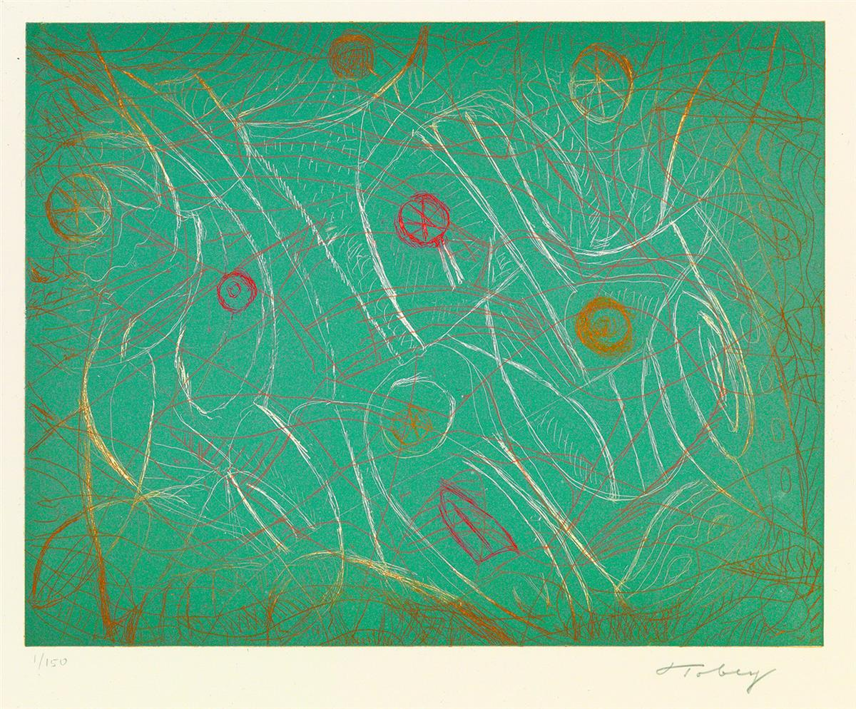 MARK-TOBEY-Group-of-4-color-etchings-with-aquatint