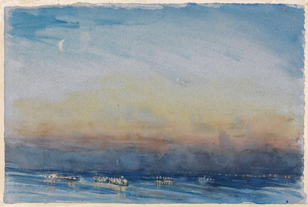 JOSEPH-PENNELL-New-York-Harbor-Sunset
