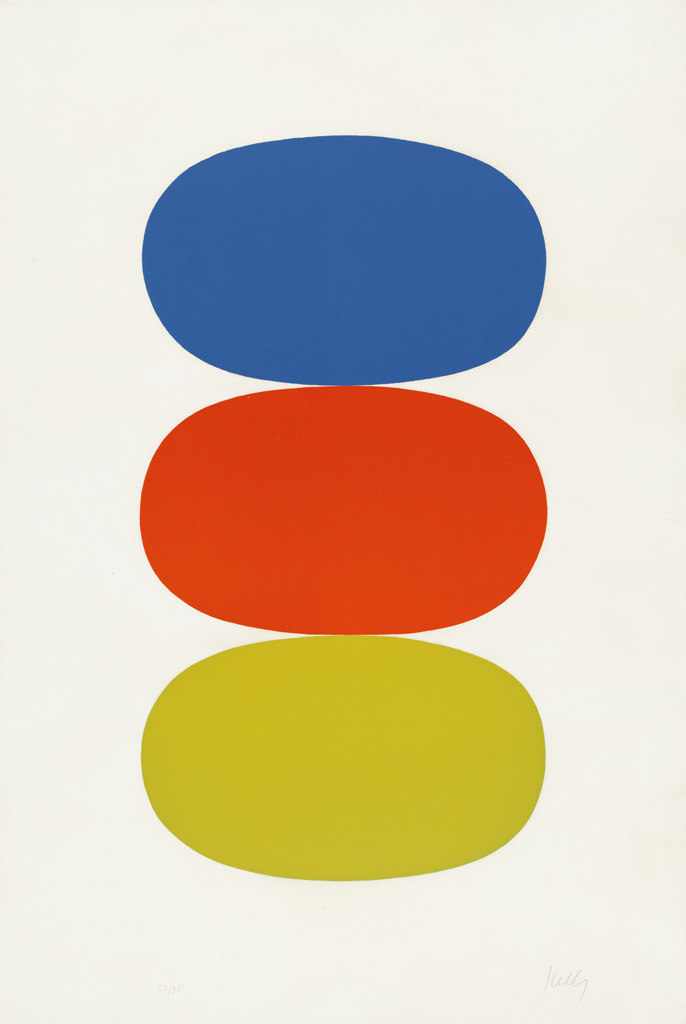 ELLSWORTH KELLY Blue and Orange and Green.