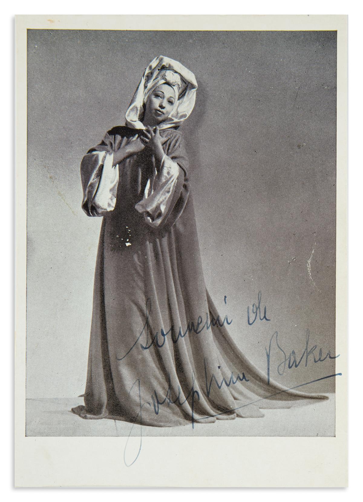 BAKER-JOSEPHINE-Photograph-Signed-and-Inscribed-Souvenir-de-