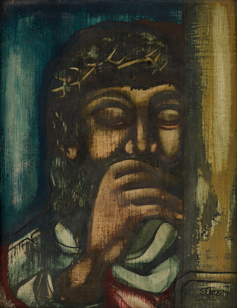 CHARLES SEBREE (1914 - 1985) Christ with a Crown of Thorns.
