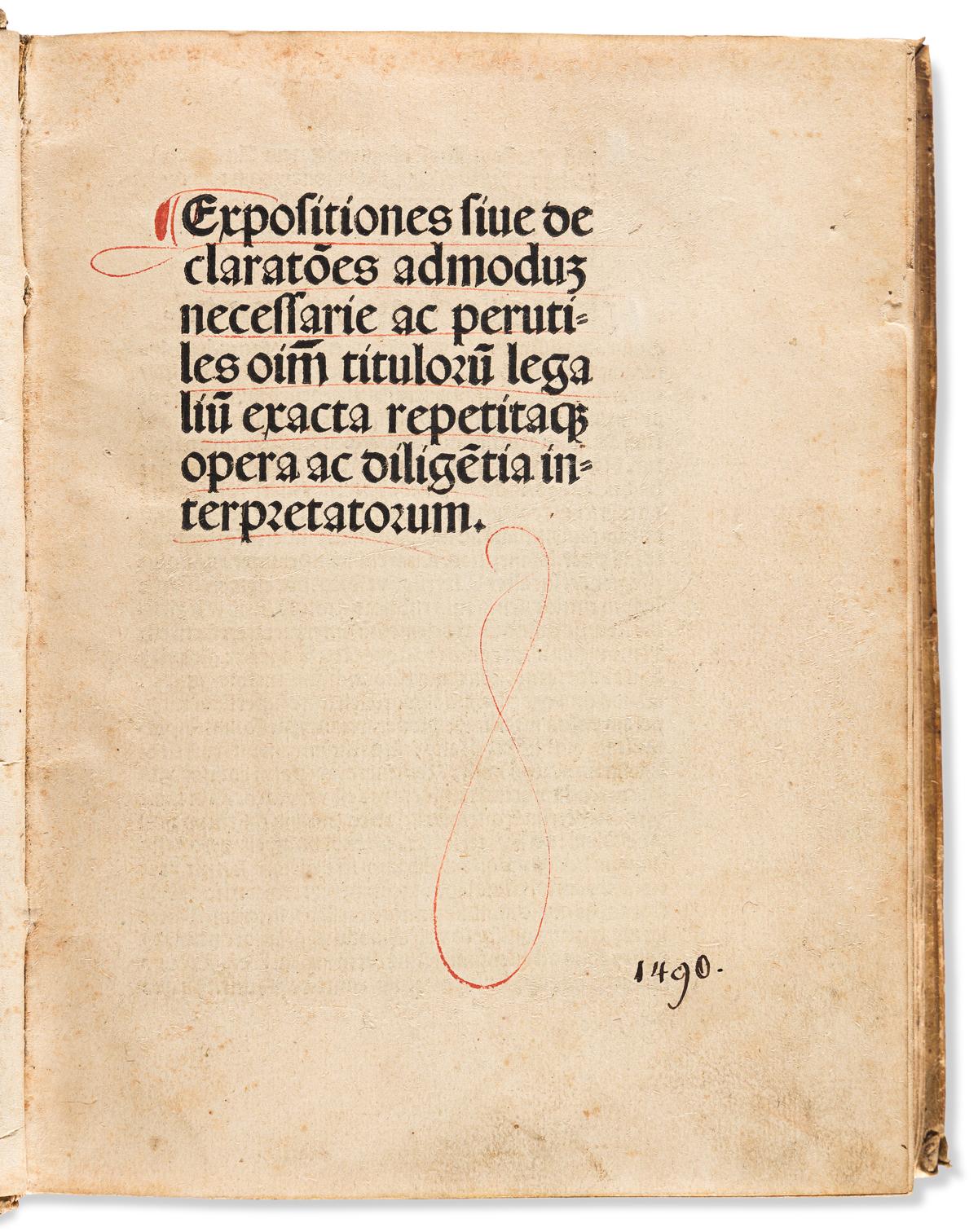 Brant, Sebastian (1458-1521) Expositiones Omnium Titulorum Legalium.