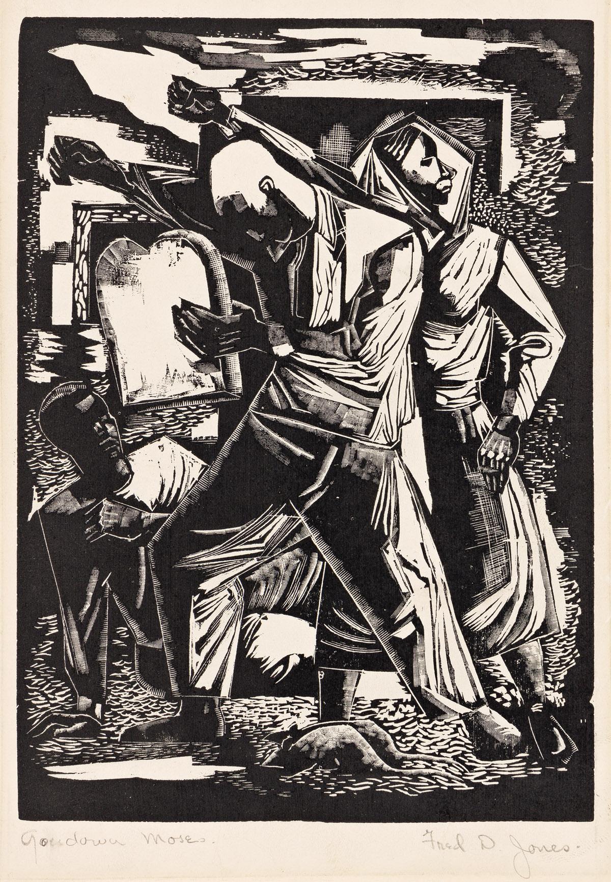FREDERICK D. JONES (1914 - 2004) Go Down Moses.