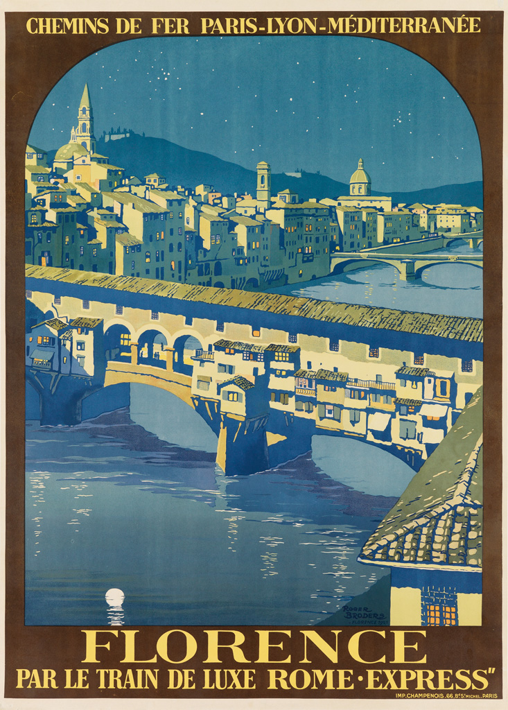 ROGER BRODERS (1883-1953). FLORENCE. 1921. 40x29 inches, 103x73 cm. Champenois, Paris.