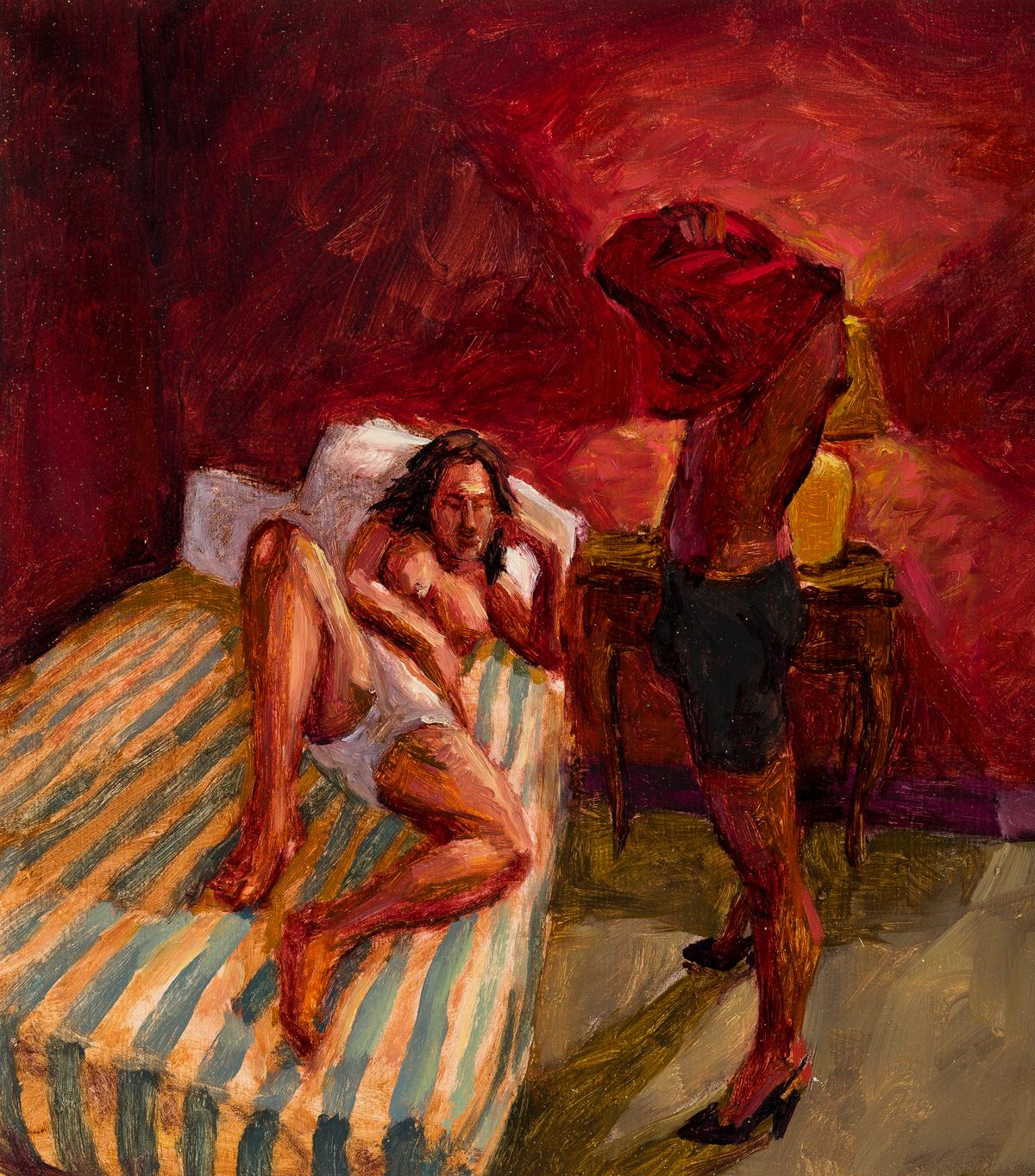 HUGH STEERS (1962-1995) Two oils on paper.