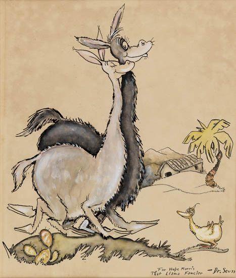 DR. SEUSS [THEODOR GEISEL]. A Pair of Llamas in Peru.