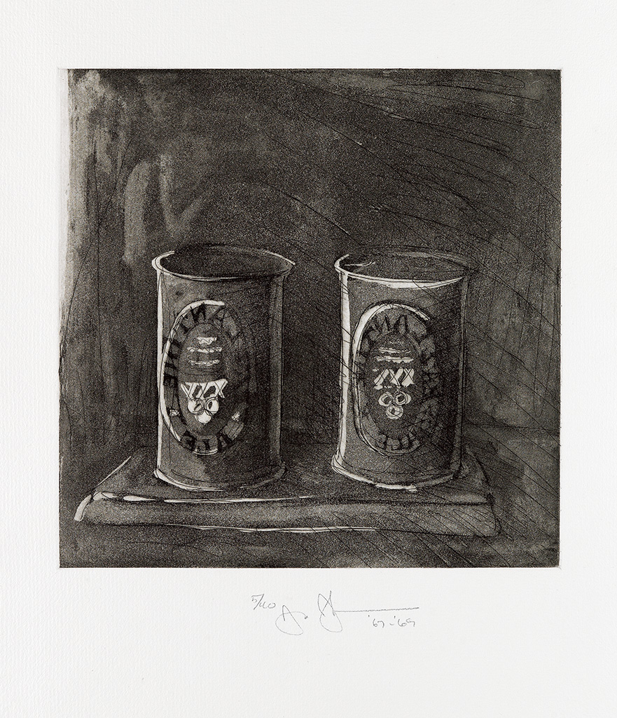 JASPER JOHNS Untitled (1st Etchings, 2nd State).