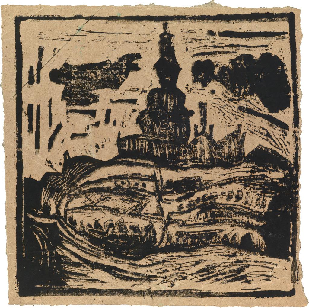 WILLIAM-H-JOHNSON-(1901---1970)-Untitled-(Bazaars-behind-Ols