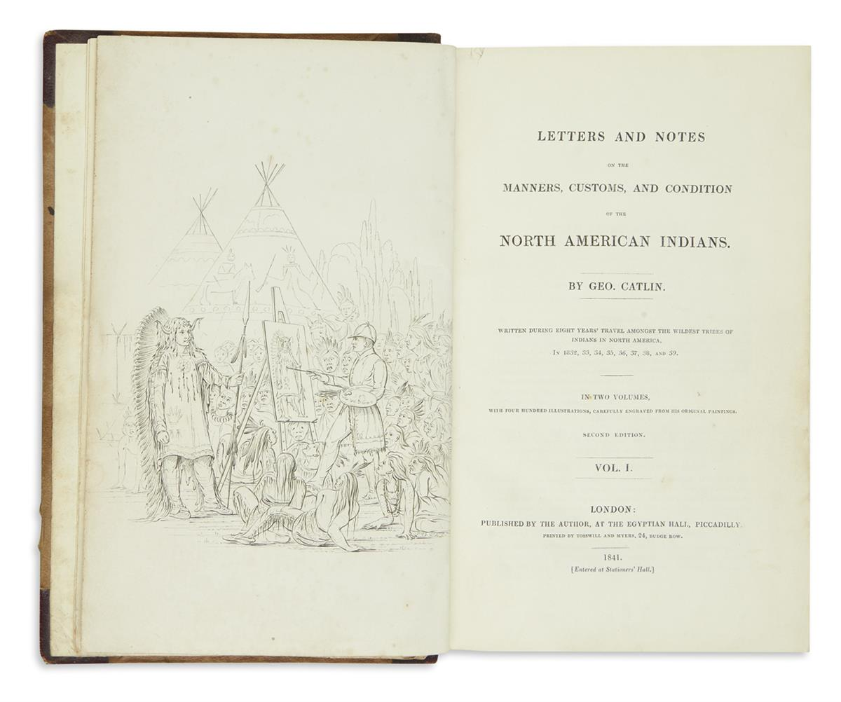 (AMERICAN-INDIANS)-Catlin-George-Letters-and-Notes-on-the-Ma