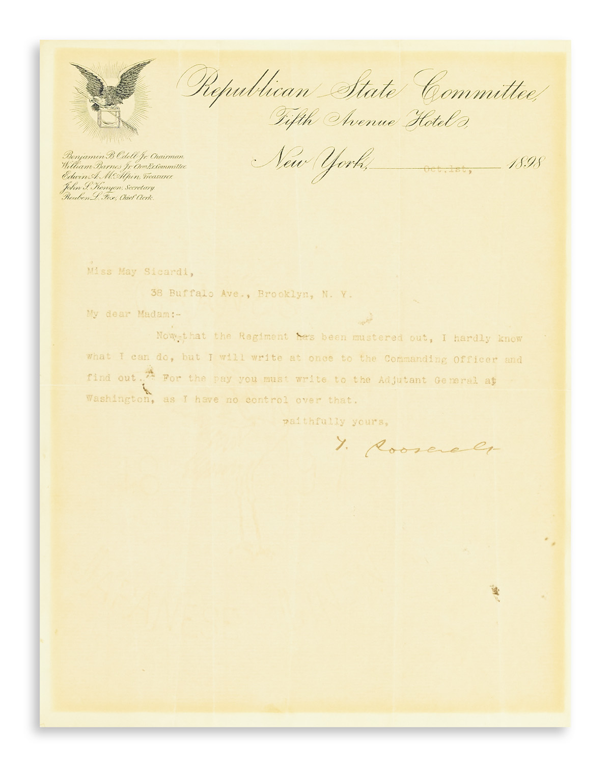 ROOSEVELT-THEODORE-Typed-Letter-Signed-T-Roosevelt