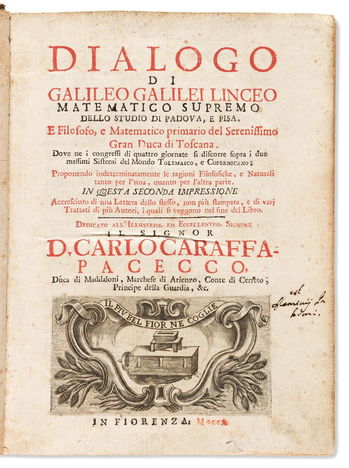 Galilei, Galileo (1564-1642) Dialogo.