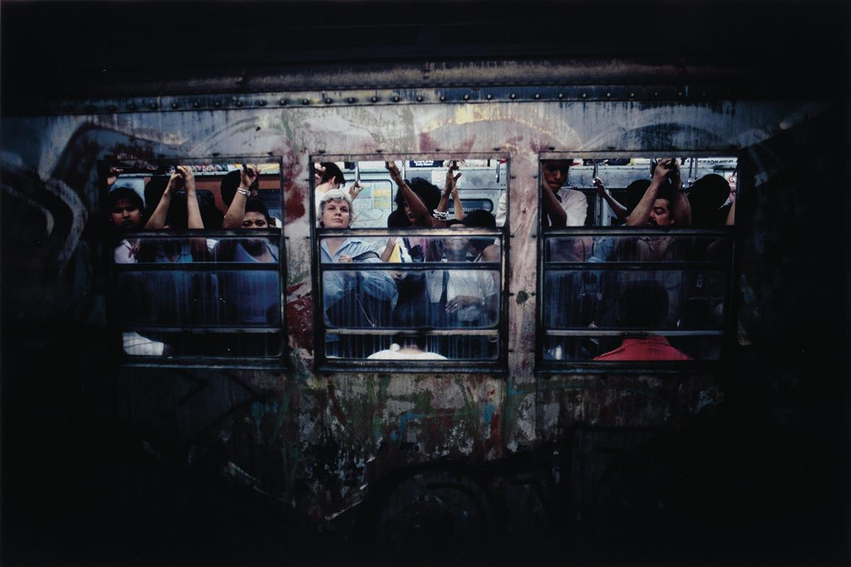 BRUCE DAVIDSON (1933- ) Pair of photographs from the series Subway.