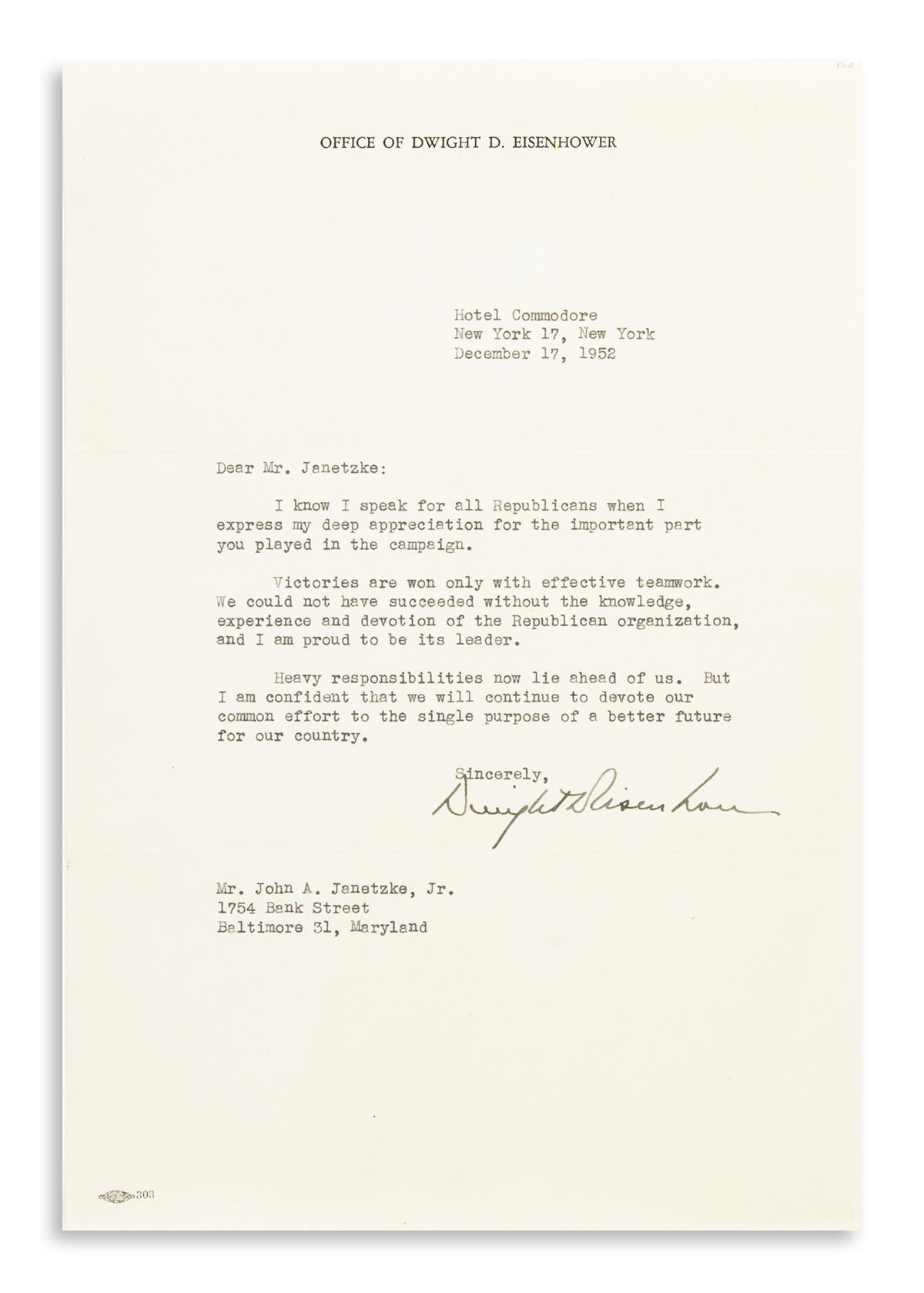 EISENHOWER-DWIGHT-D-Typed-Letter-Signed-as-President-Elect-t