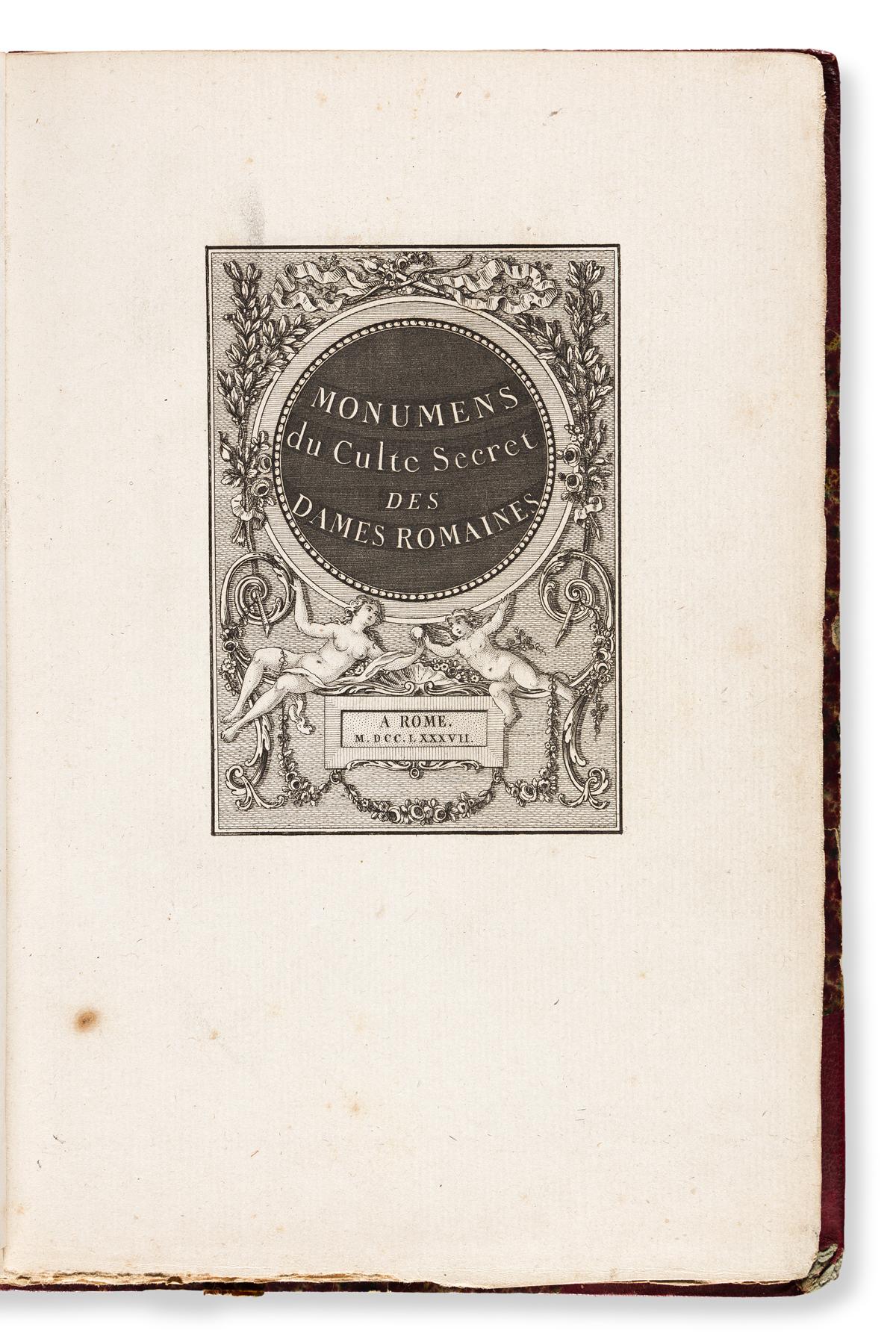 Erotica Lot, Four 18th Century Volumes.