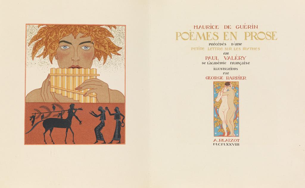 (BARBIER-GEORGE)-Guérin-Maurice-de-Poèmes-en-Prose