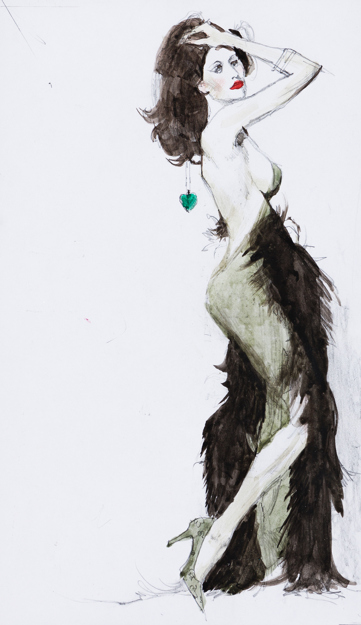 ROBERT McGINNIS (1926- ) The Girl With the Long Green Heart.