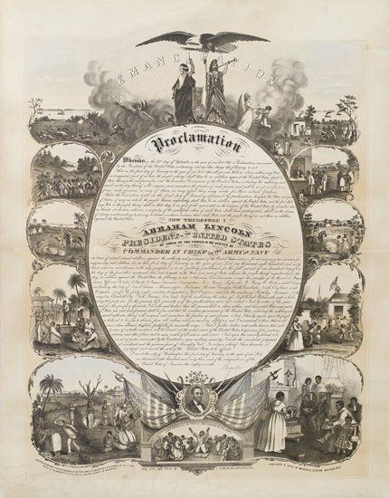 (SLAVERY AND ABOLITION.) LINCOLN, ABRAHAM. Emancipation Proclamation.