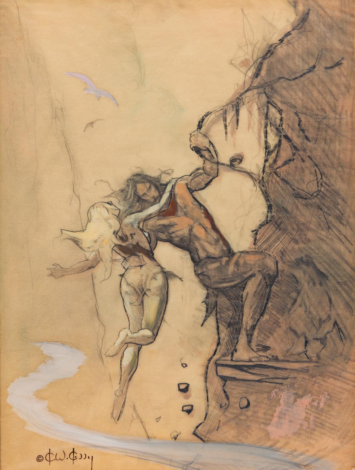 KEN KELLY (1946- ) Flight to Opar.