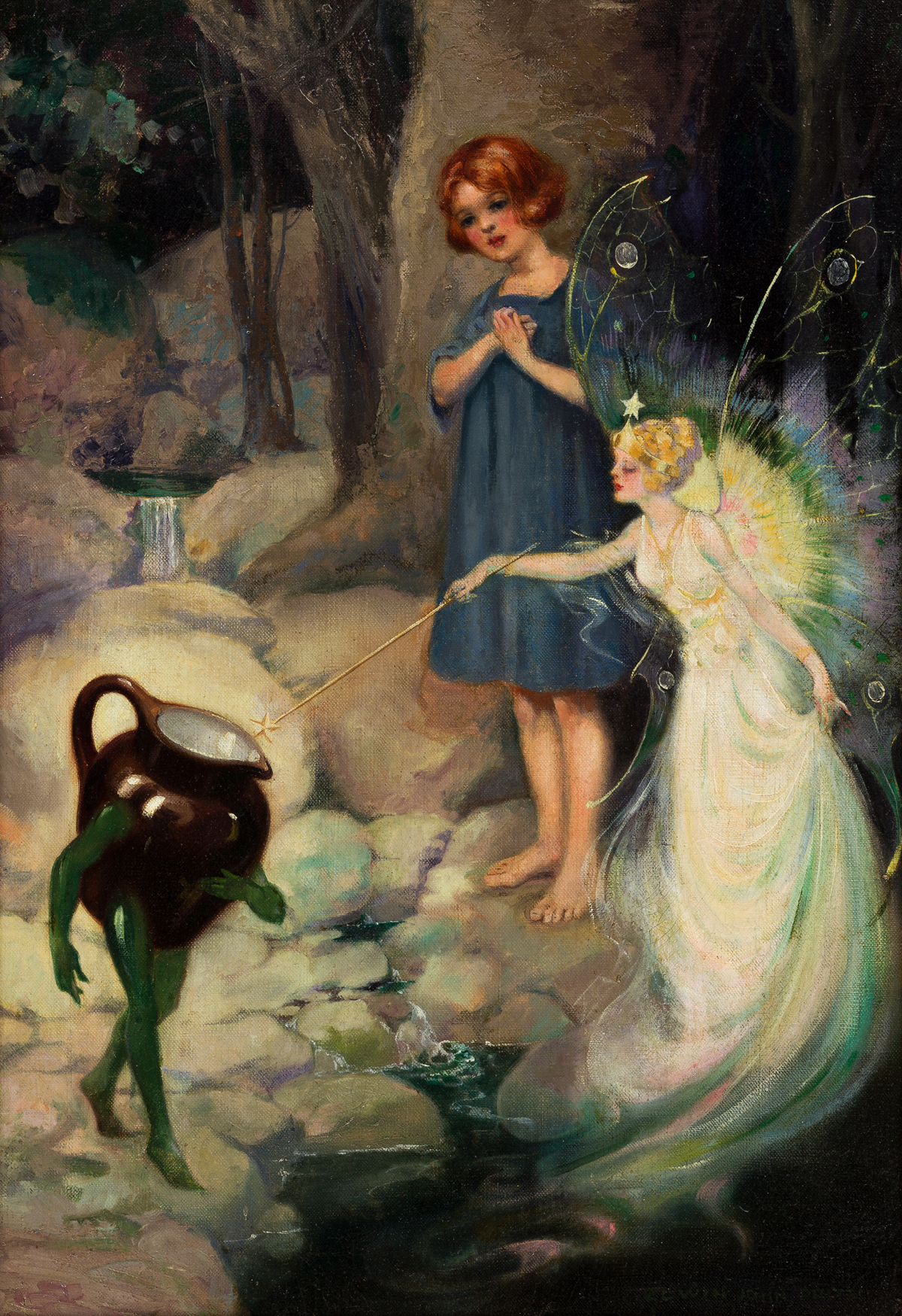 EDWIN JOHN PRITTIE (1879-1963) She then touched the pitcher with her wand. [CHILDRENS]