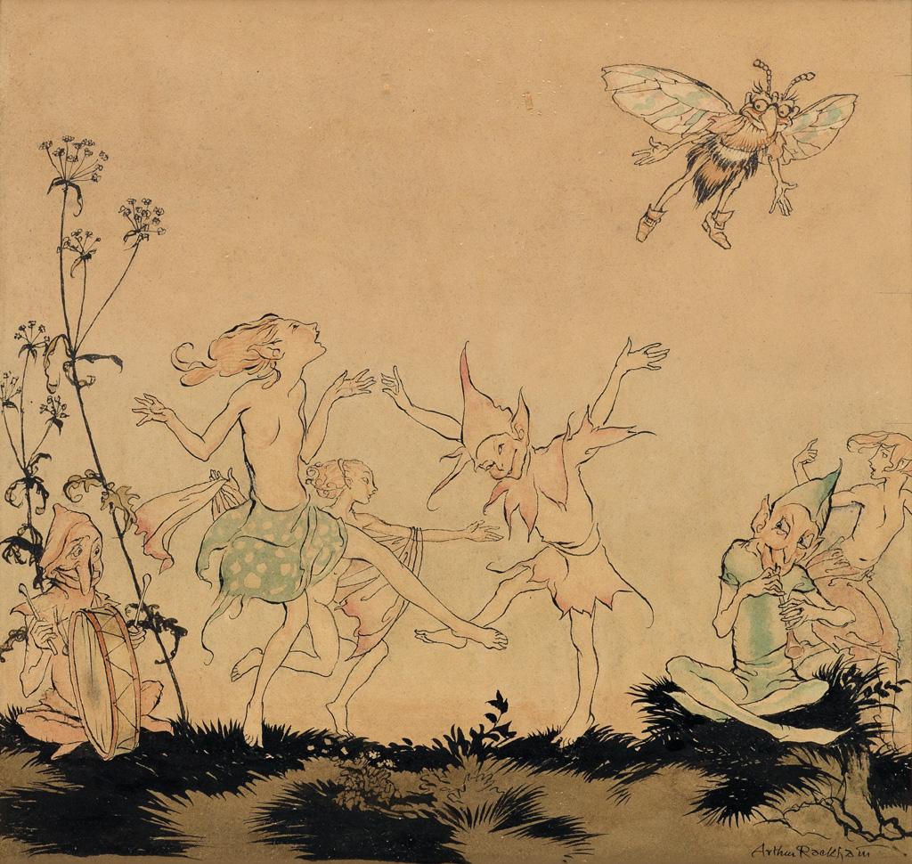 (CHILDRENS) ARTHUR RACKHAM. Fairy Dance.