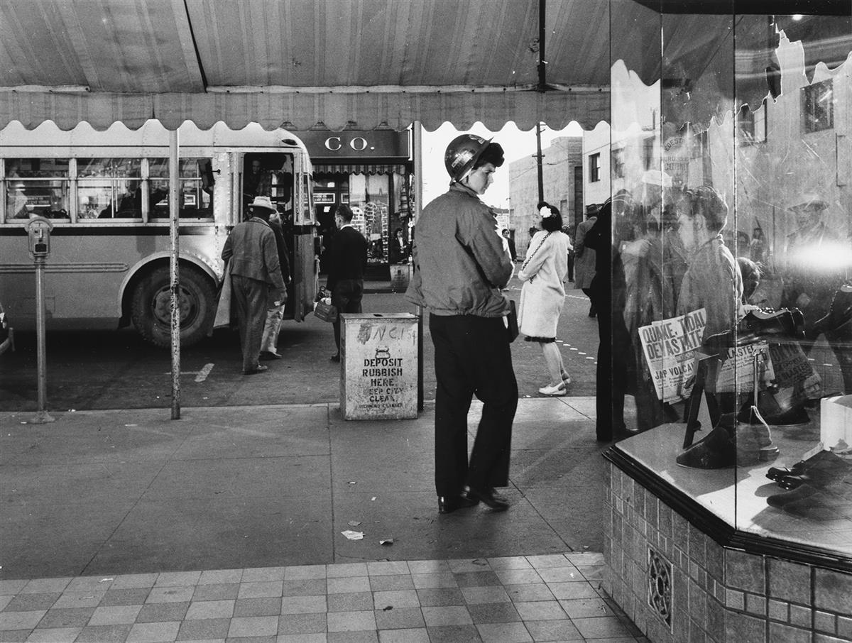 DOROTHEA LANGE (1895-1965) Woman in hard hat.