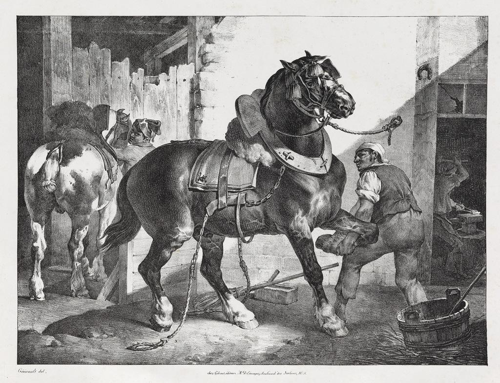 THÉODORE-GÉRICAULT-Études-de-Chevaux-par-Géricault