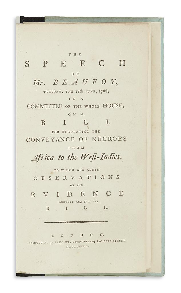 (SLAVERY-AND-ABOLITION)-Beaufoy-Henry-The-Speech----on-a-Bil