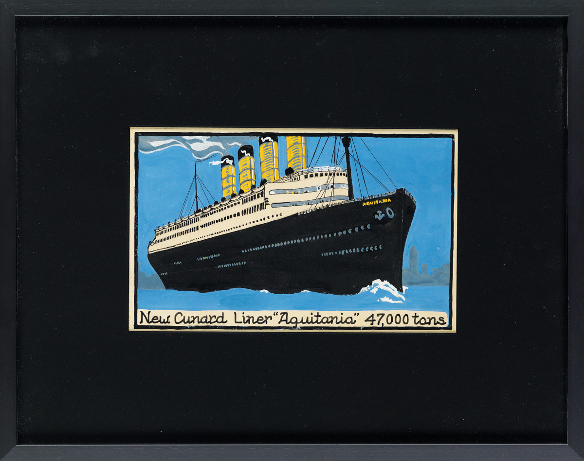 (ADVERTISING--NEW-YORK-CITY--OCEAN-LINERS--CUNARD--POST-CARD