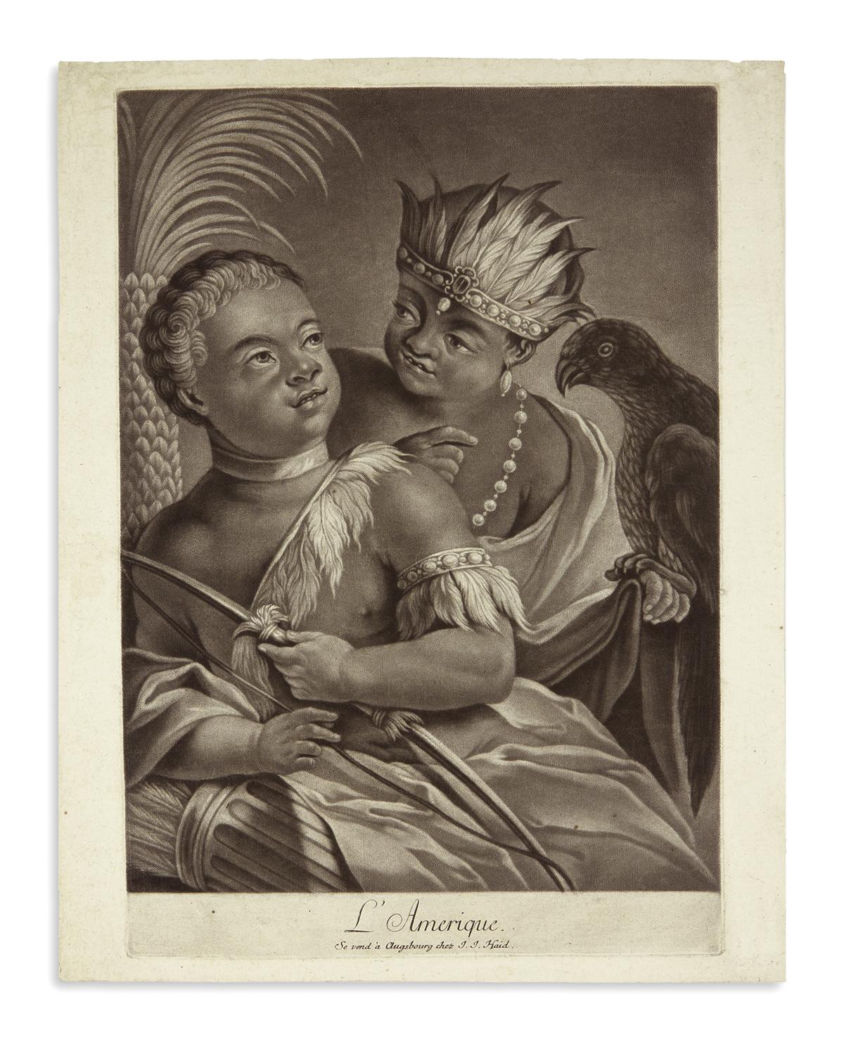 (AMERICAN-INDIANS)-Haid-Johann-Jakob;-engraver-LAmerique