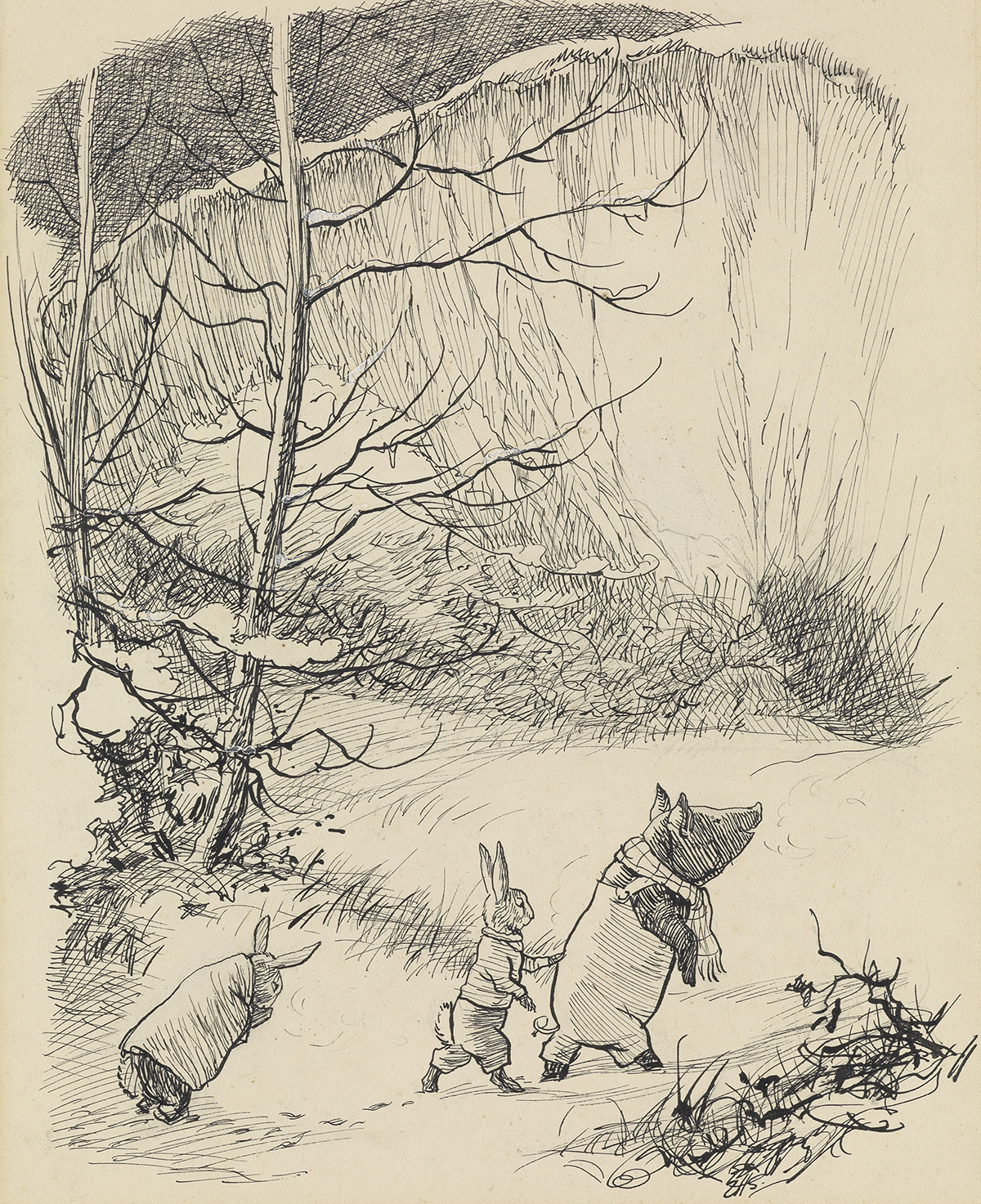 CHILDRENS KENNETH GRAHAME ERNEST H. SHEPARD. He led them into the chalk-pit, till they stood at the very foot.