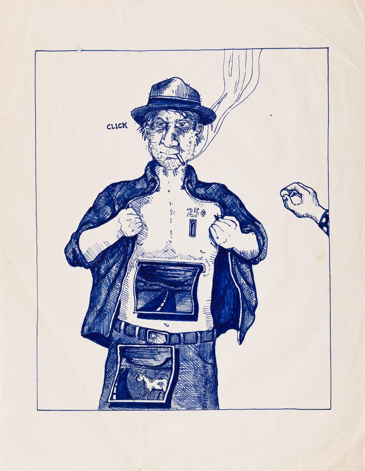 DAVID-WOJNAROWICZ-(1954-1992)-Two-drawings