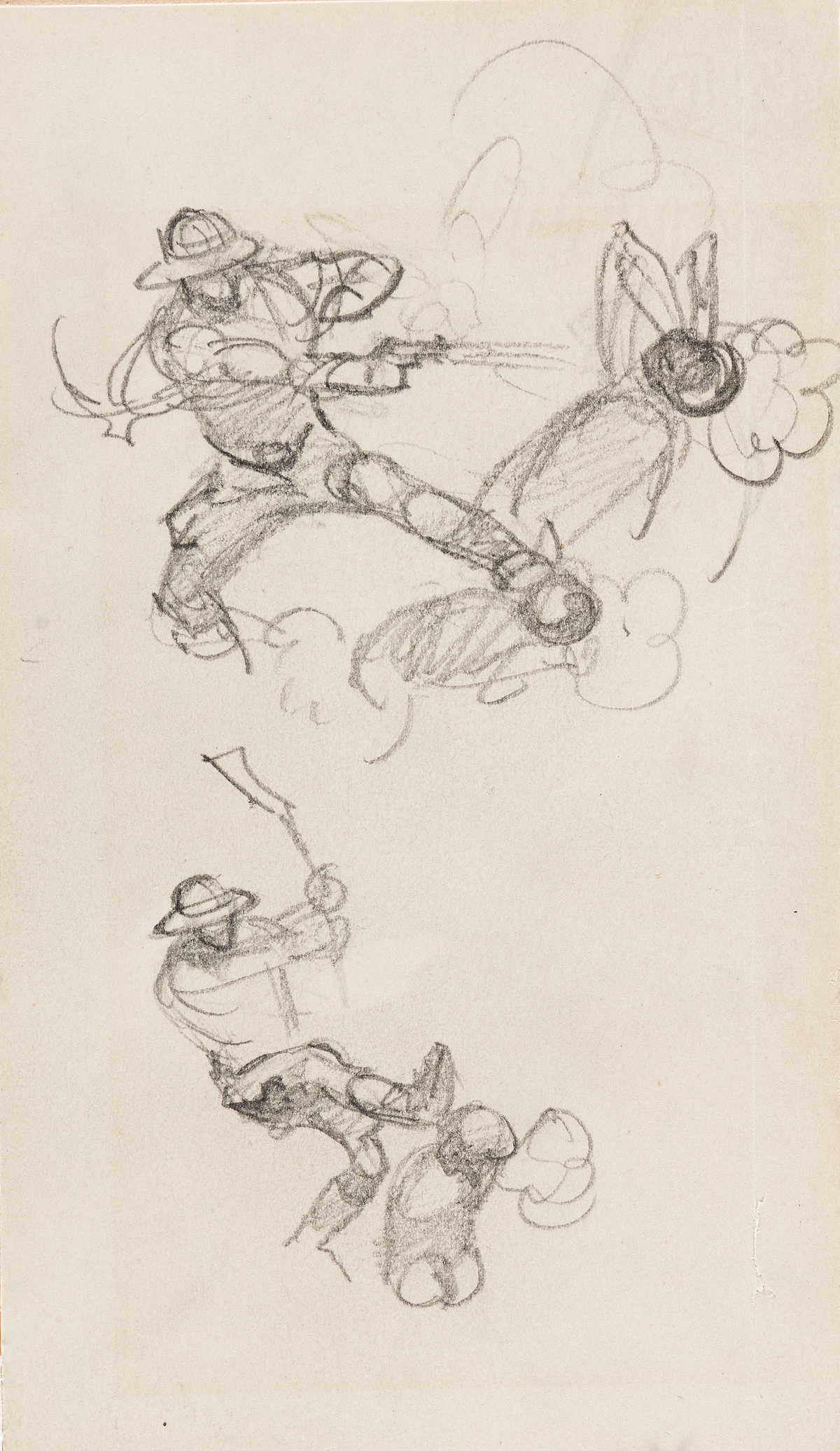 FRANK FRAZETTA (1928-2010) Concept sketch for cover of National Lampoon, April 1971.